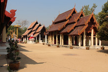 Buddhist Temple (Wat PhraThat Lampang Luang) In Lampang In Thailand