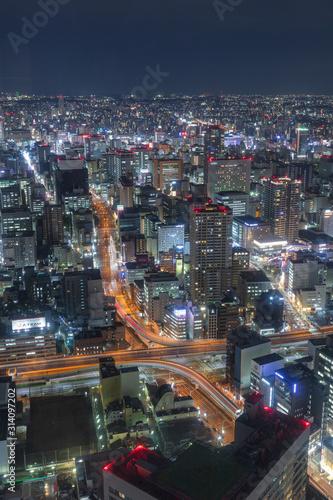 Fototapeta 愛知県 スカイプロムナード 夜景 obraz na płótnie