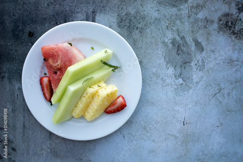 Fruit Plate with Pineapple and Watermelon