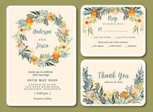 Wedding Invitation With Pretty...