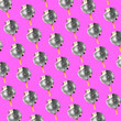 canvas print picture - Modern colorful pattern made of exclusive design of icecream as a discoball, modern background. Alternative view, new look, conceptual inspiring wallpaper for your advertising. Creative art.