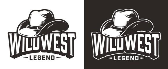 Monochrome wild west label