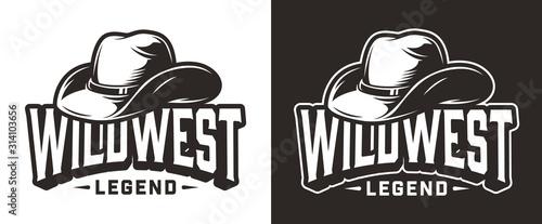 Fototapeta Monochrome wild west label obraz