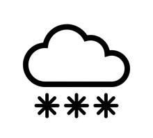 Chmura śniegowa Ikona