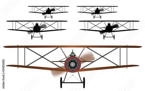 Biplane Squadron Fototapeta