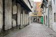 Ancient cemetery slabs of old Tallinn