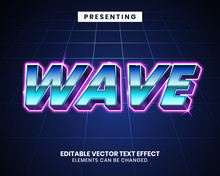 3d Retrowave Futuristic Editable Text Effect