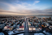 High View From Church In Reykjavik