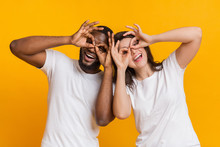 Cheerful Interracial Couple Ma...