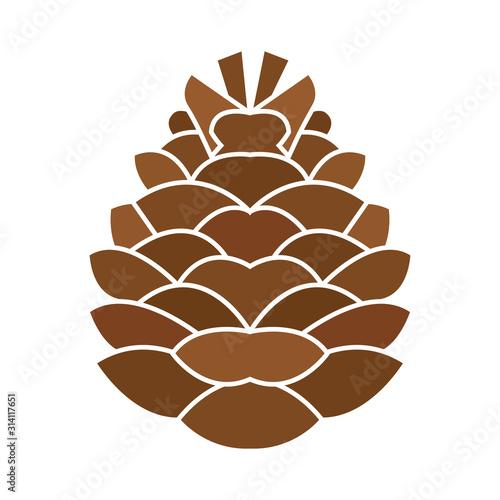 Fototapeta Isolated pine cone icon