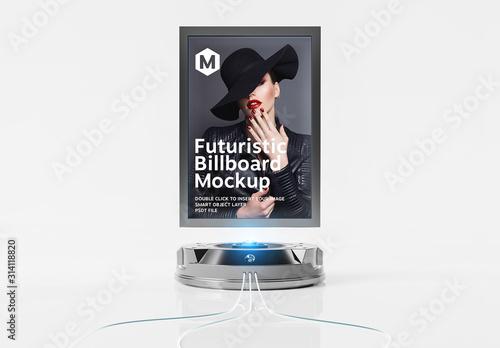 Obraz Futuristic Billboard Mockup - fototapety do salonu