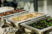 Buffet Food In Chafing Dishes ...