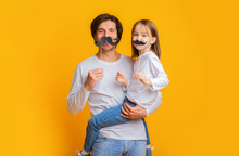 Funny Girl And Dad Have Mustac...