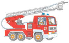 Fire-engine Carrying Firefight...
