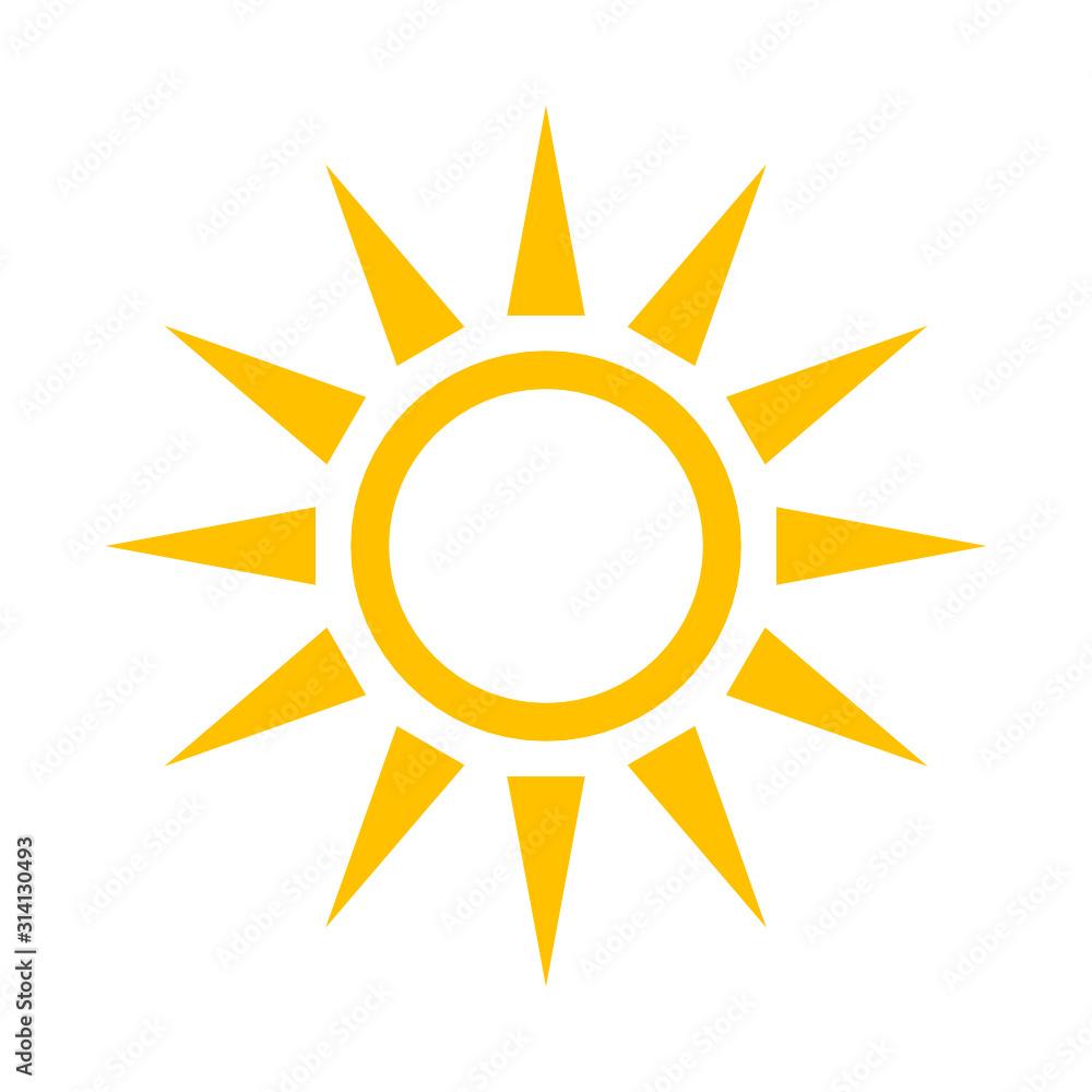 Fototapeta słońce ikona