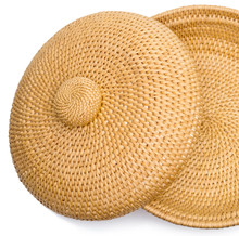 Basketry. Top View Of Wicker B...