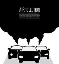 Car Air Pollution. Global Warm...
