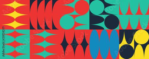 Minimal Vector Geometric Pattern design Canvas Print