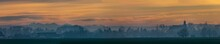 Panorama Of A Hazy Village In ...