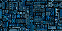 Ethnic Blue Handmade Ornament,...