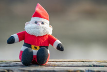 Close Up Of Small Santa Clause...