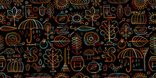 Autumn Collection, Seamless Pattern For Your Design