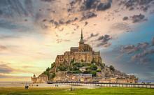 Mont-Saint-Michel - Sonnenunte...