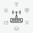Modem and router vector icon sign symbol