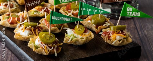 Appetizers for game day celebration. Wallpaper Mural