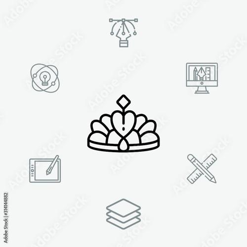 Photo Crown vector icon sign symbol