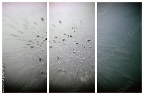 Set of vertical banners. Abstract backgrounds. Wallpaper Mural