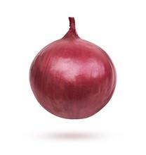 Fresh Red Onion On White Backg...