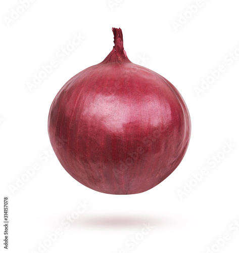 Fotomural Fresh red onion on white background