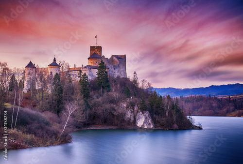 Medieval Niedzica castle in Poland
