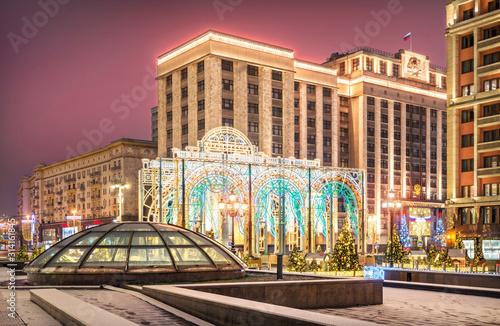 Fényképezés Новогодняя Государственная Дума New Year decorations at the State Duma