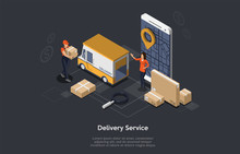 Delivery Service App With Post...