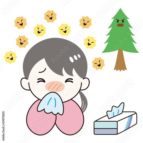症 鼻水 花粉