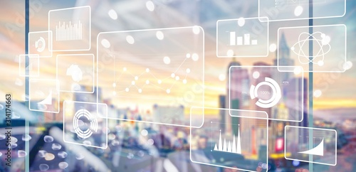 Cuadros en Lienzo Analytics data big business intelligence background