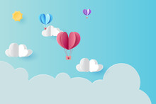 Love Concept With Hot Air Ball...