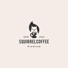 Squirrel Coffee Mug Drink Logo...