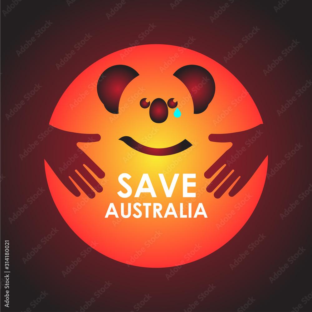Fototapeta Pray For Australia Design Banner