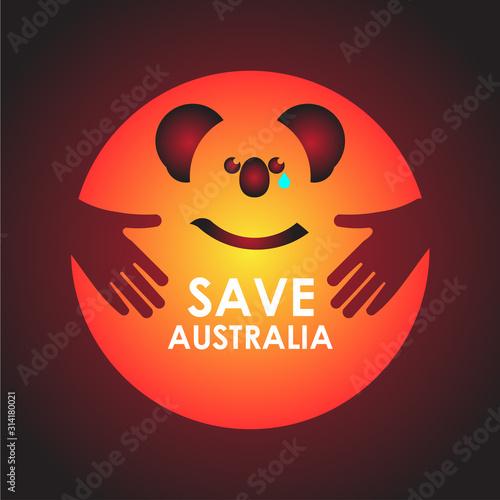Fototapeta Pray For Australia Design Banner obraz