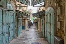 Jerusalem Old Street In The Mo...