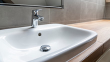 Sink And Faucet In Modern Bath...