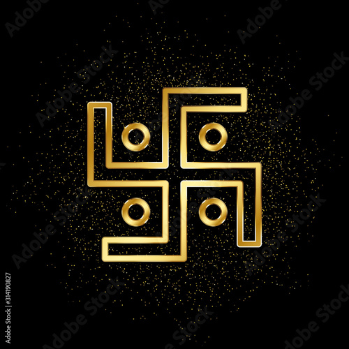 Αφίσα Swastika gold icon