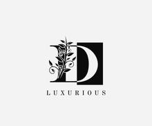 D Letter Luxury Vintage Logo. ...