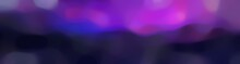 Blurred Bokeh Horizontal Background Graphic With Very Dark Blue, Moderate Violet And Dark Orchid Colors And Space For Text