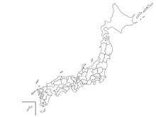 日本地図 白地図 塗...