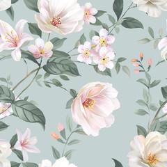 Fototapetawatercolor flower illustration