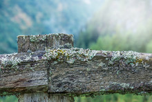 Close-up Of An Old Wooden Fenc...